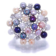 Load image into Gallery viewer, L'Appèl De Lumière Multi-Colour Pearl Brooch And Pendant - Orchira Pearl Jewellery