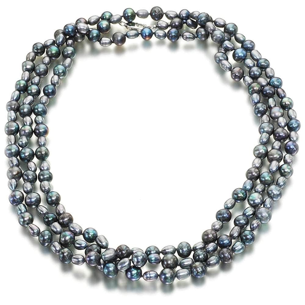 Nightingale Black Pearl Necklace - Orchira Pearl Jewellery