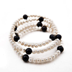 Sunshine of Santorini Pearl Bangle