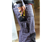 Dickies WD4930 Grafter Duo Tone Cordura Knee Pad Work Trousers Navy Blue, KNEE PAD TROUSERS, Dickies, Workwear Nation Ltd