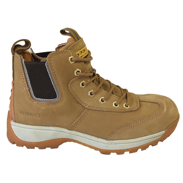 Buckler BHYB1 Hybridz Safety Lace/Dealer Work Boot - Honey / Black, SAFETY BOOTS, Buckler, Workwear Nation Ltd
