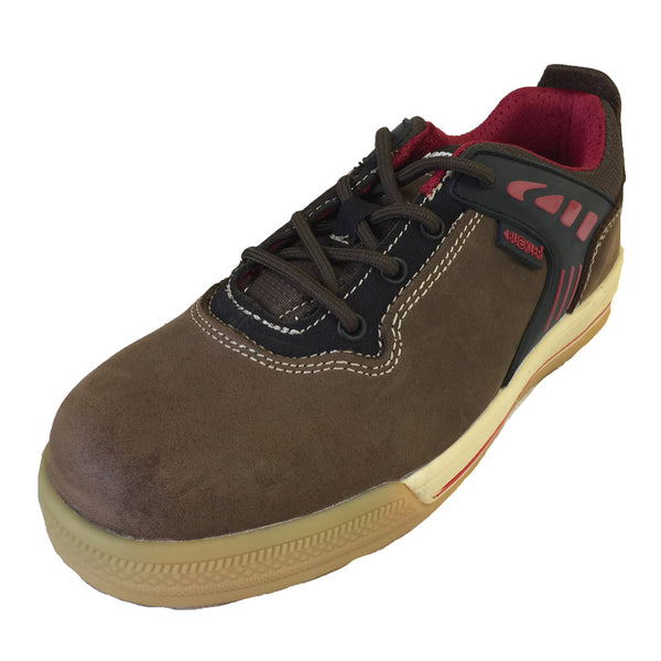 Buckler Largo Bay Safety Work Trainer Shoes Brown (Sizes 6-13) Men's, SAFETY TRAINERS, Buckler,