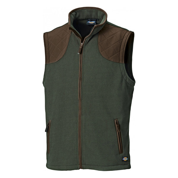 Dickies Orland Workwear Bodywarmer Gilet Micro Fleece Quilted