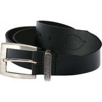 Dickies Grafters Black Leather Belt BE100, ACCESSORIES, Dickies, Workwear Nation Ltd