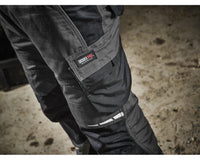 Dickies Pro Trousers Black/Grey (DP1000), KNEE PAD TROUSERS, Dickies, Workwear Nation Ltd