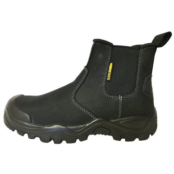 Buckler BSH006BK Safety Dealer Work Boots Black (Sizes 6-12) Men's Steel Toe Cap, SAFETY BOOTS, Buckler, Workwear Nation Ltd