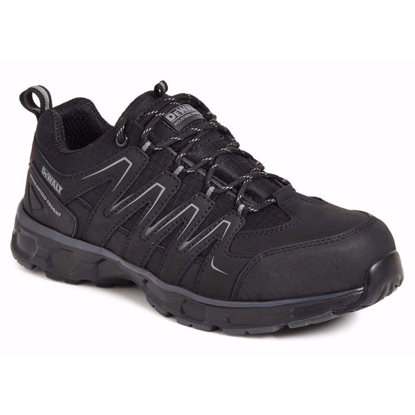 DeWalt Brentwood black lightweight S1P SRA safety trainer with midsole size 6-12, SAFETY TRAINERS, Dewalt, Workwear Nation Ltd