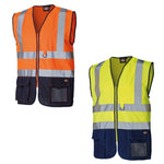 Dickies SA22021 Two Tone Hi Vis Waistcoat Gilet Safety Visibility, SAFETY VESTS, Dickies, Workwear Nation Ltd