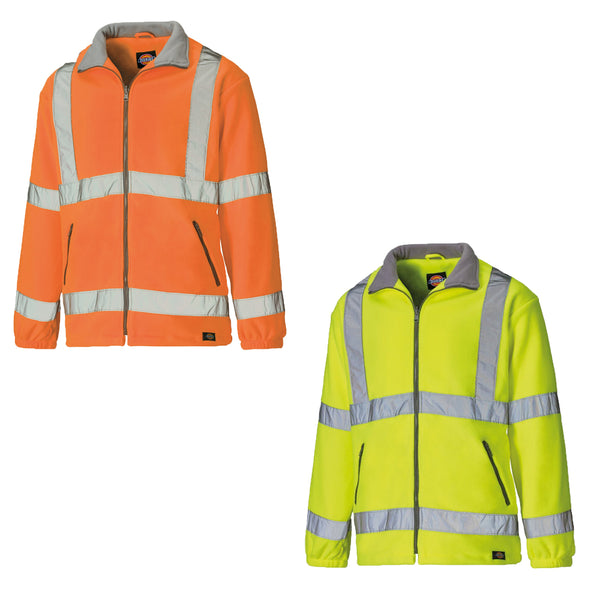 Dickies High Visibility Lined Fleece Work Jacket SA22032, FLEECE CLOTHING, Dickies, Workwear Nation Ltd