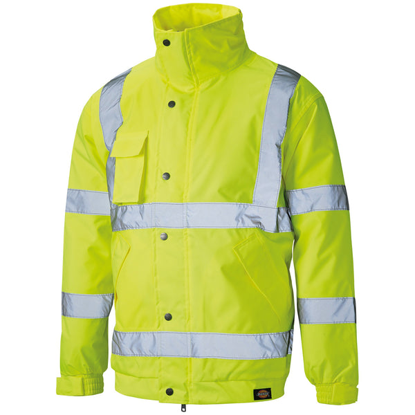 Dickies High Visibility Bomber Jacket Coat SA22050, HI-VIS JACKETS & COATS, Dickies, Workwear Nation Ltd