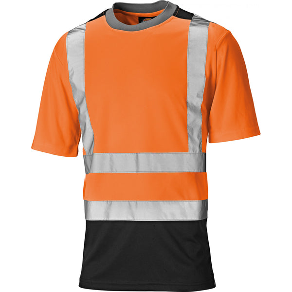 Dickies Two Tone Hi Vis Work T-Shirt SA22081, HI-VIS T-SHIRTS, Dickies, Workwear Nation Ltd