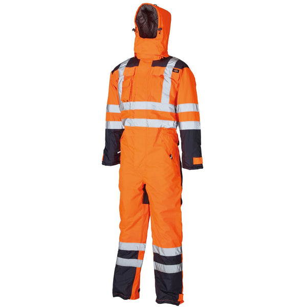 Dickies Waterproof Hi Vis Safety Coverall SA7000 Various Colours, WATERPROOF JACKETS & SUITS, Dickies, Workwear Nation Ltd