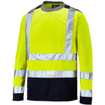 Dickies Hi Vis Two Tone Long Sleeve SA22082 Various Colours, HI-VIS T-SHIRTS, Dickies, Workwear Nation Ltd
