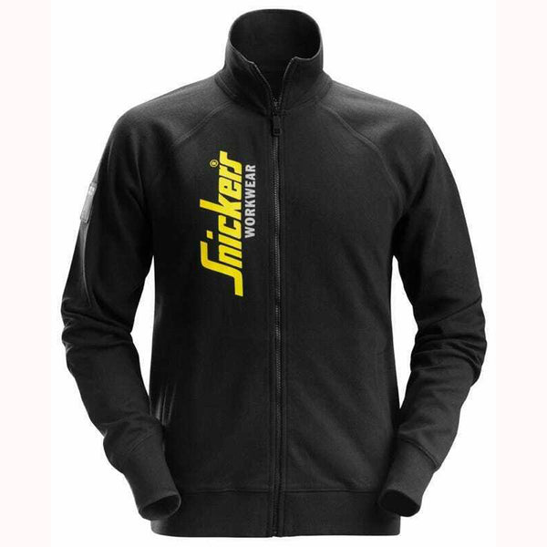 Snickers 2836 Full Zip Sweatshirt Jumper Black - Limited Edition, SWEATSHIRTS, Snickers, Workwear Nation Ltd