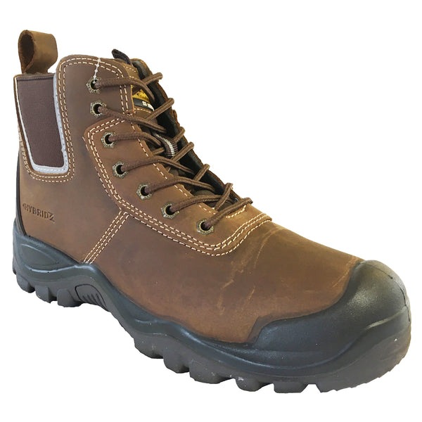 Buckler BHYB2 Anti-Scuff Safety Work Boots Brown Sizes 6-13 Mens Dealer Brown or Honey, SAFETY BOOTS, Buckler,