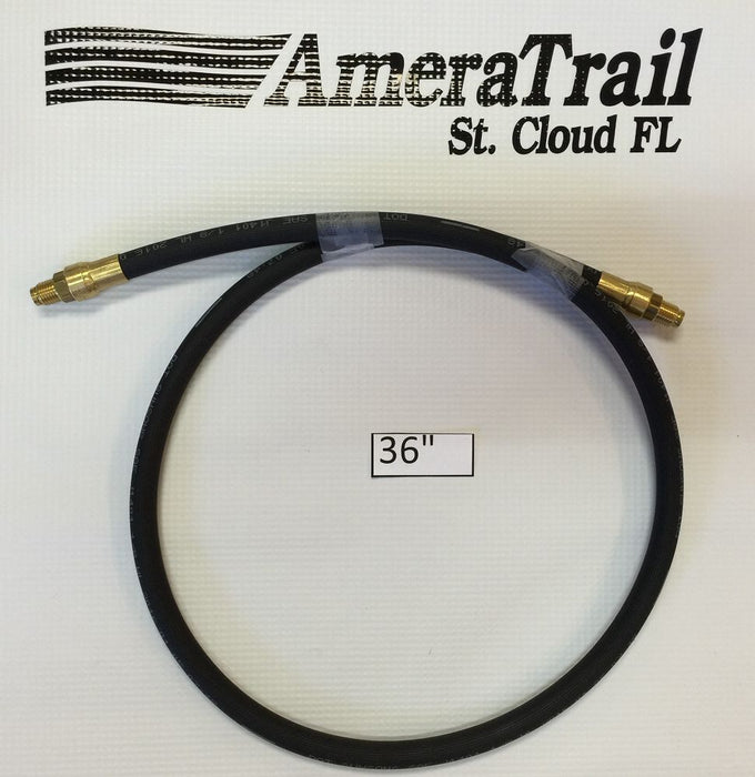 "36"" Brake Line, 1/8"" ID 3/16"" Brass Male Fittings w/ Stainless Flares - Kodiak Hydraulic Brake Hose"