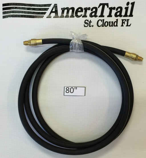 "80"" Brake Line, 1/8"" ID 3/16"" Brass Male Fittings w/ Stainless Flares - Kodiak Hydraulic Brake Hose"