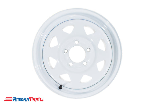"14"" 5 Lug White Trailer Rim - 5 on 4.5"" Lug Pattern"