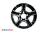 "14"" 5 Lug Black and Silver Thoroughbred Trailer Rim - 5 on 4.5"" Lug Pattern - 5.5"" Width"