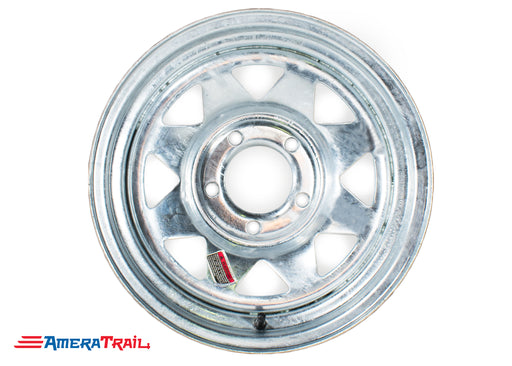 "15"" 5 Lug Galvanized Trailer Rim - 5 on 4.5"" Lug Pattern"