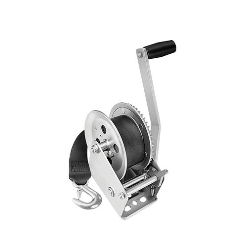 1800 lb Boat Winch w/ 20' Strap - Made by Fulton