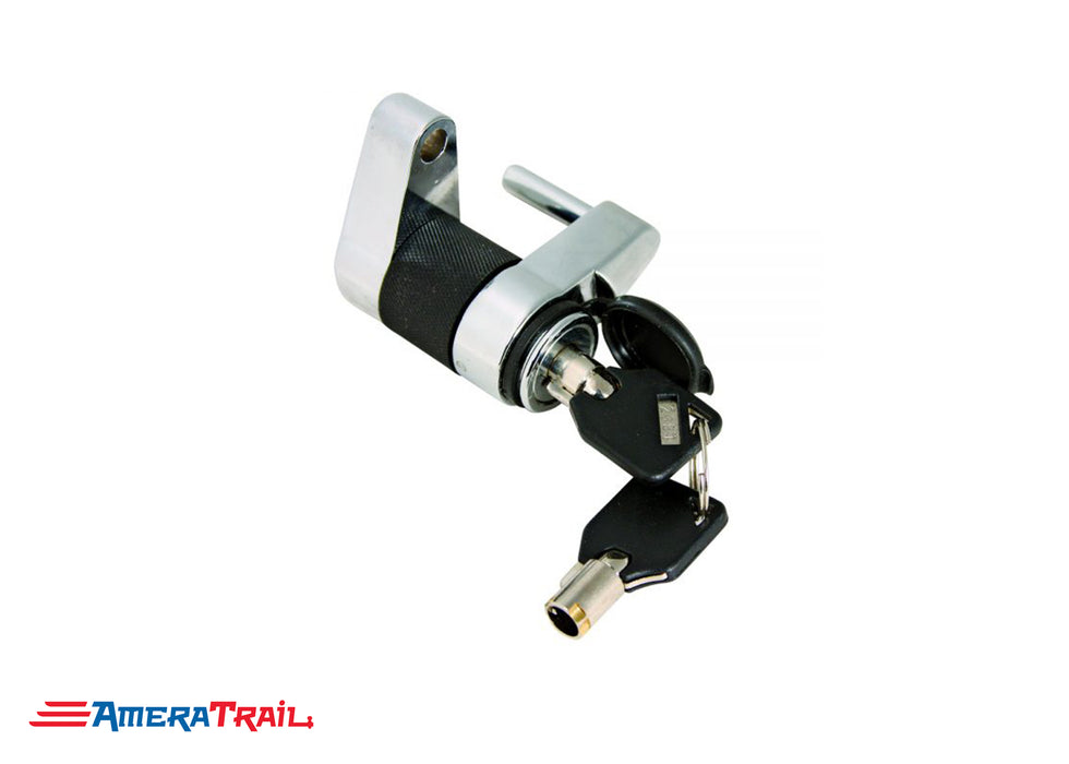 "Armored 7/8"" Span Coupler / Door Latch Lock , Chrome Plated w/ 2 Keys - Trimax"