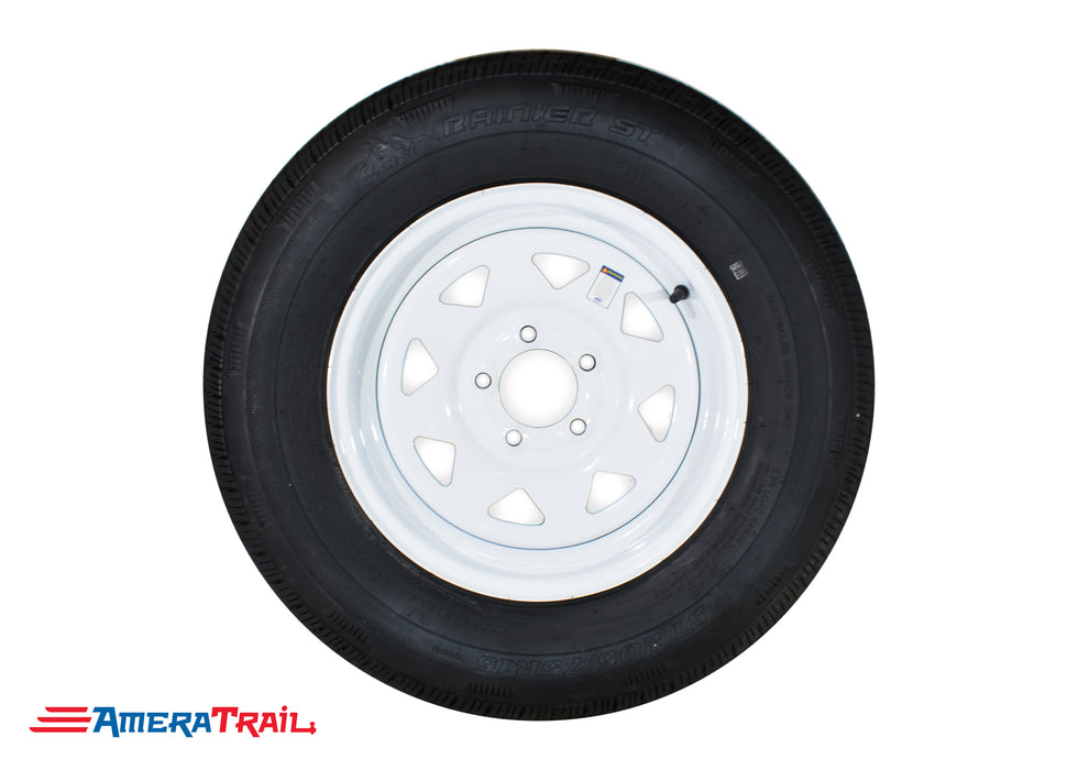 5 Lug White Trailer Wheel