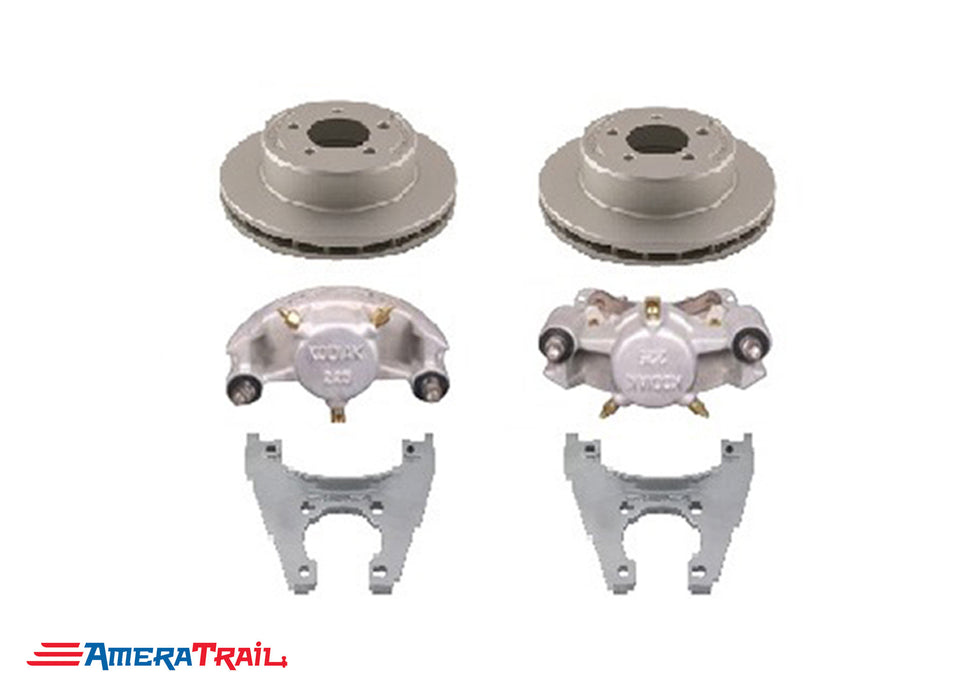 "5 Lug 3.5K Kodiak Brake Kit , ALL DACROMET FINISH - 5 on 4.5"" Bolt Pattern"