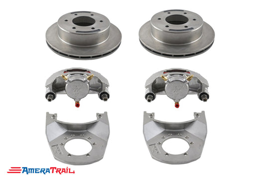 "6 Lug 5K / 6K Kodiak Brake Kit , STAINLESS CALIPERS w/ Dacromet Rotors & Brackets - 6 on 5.5"" Bolt Pattern"