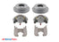 "8 Lug 8K Kodiak Brake Kit for Rockwell / Alko Axles, STAINLESS CALIPERS w/ Dacromet Rotors and Brackets - Fits 5/8"" Wheel Studs"