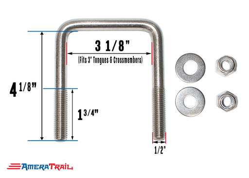 1/2 inch stainless steel u bolts