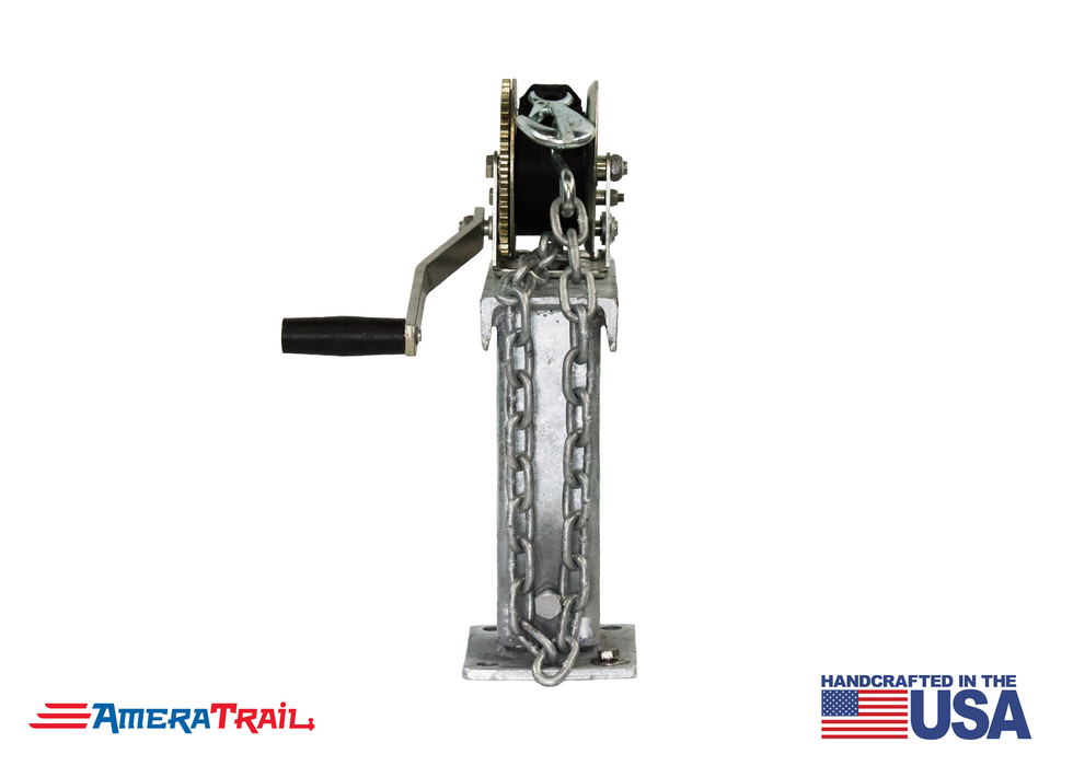 "Adjustable Winch Stand 10"" Tall 90° Fixed Angle - Includes 18"" Chain w/ S Hook"