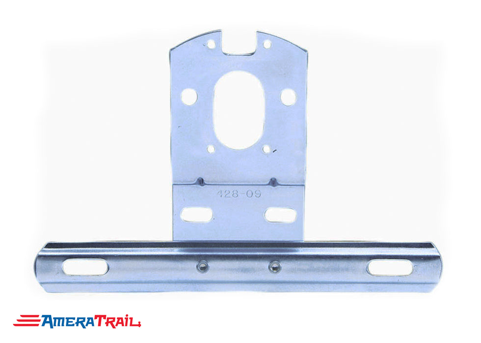 "License Plate Bracket , Metal (Zinc Coated) , 2"" Stud Mount Compatible"