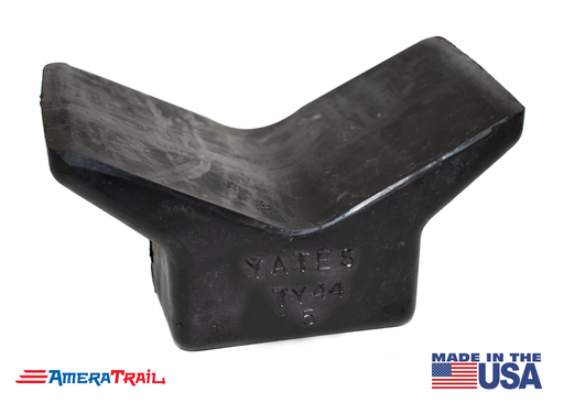 "Y Shaped Bow Stop w/ 4 X 4"" Base, Fits 1/2"" Hardware - Yates"