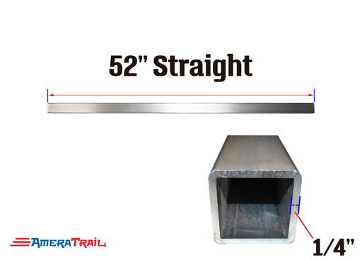 "52 X 3 X 3"" Straight Cross Member, 1/4"" Wall, Structural Aluminum"