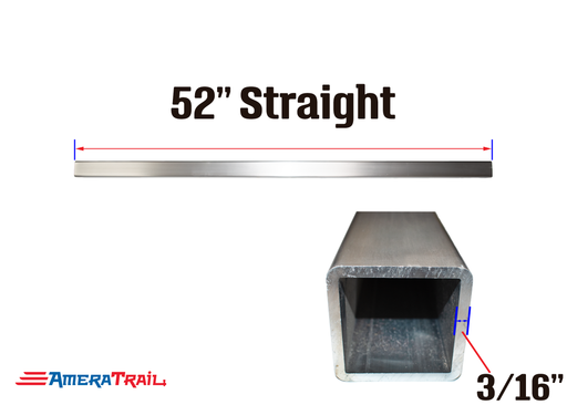 "52 X 3 X 3"" Straight Cross Member, 3/16"" Wall, Structural Aluminum"