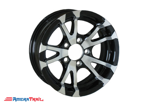 Black and Silver Aluminum Wheel