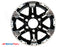 "16"" 6 Lug Turismo Black and Silver Trailer Rim - 6 on 5.5"" Lug Pattern - 6"" Width"
