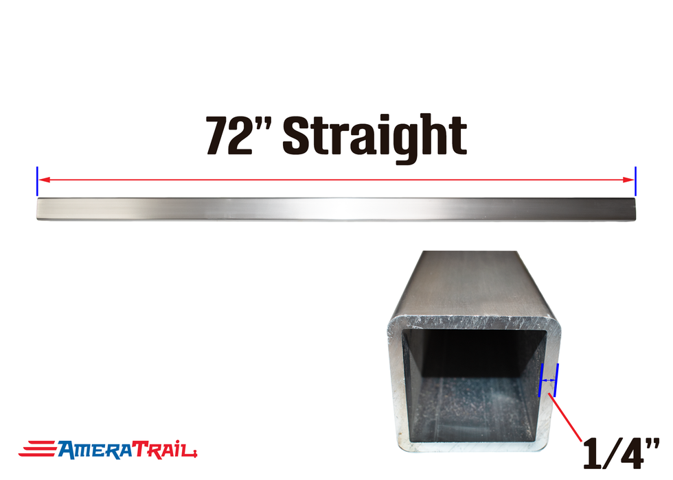 "72 X 3 X 3"" Straight Cross Member, 1/4"" Wall, Structural Aluminum"