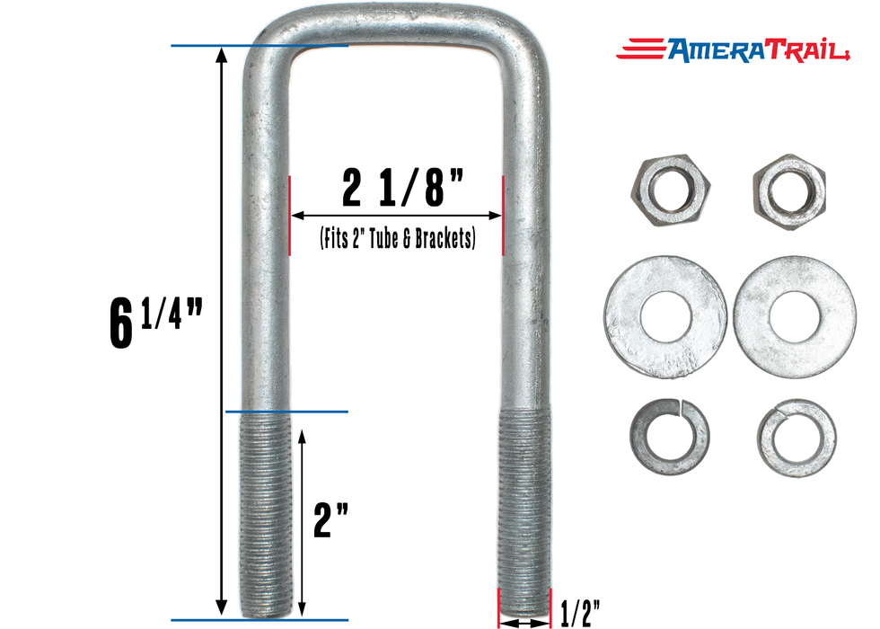 1/2 inch galvanized u bolt