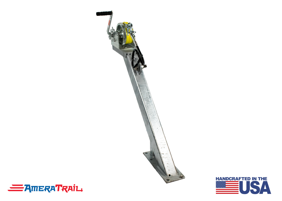 "Adjustable Winch Stand Post - 45° w/ 26"" & 34"" Base Height's"