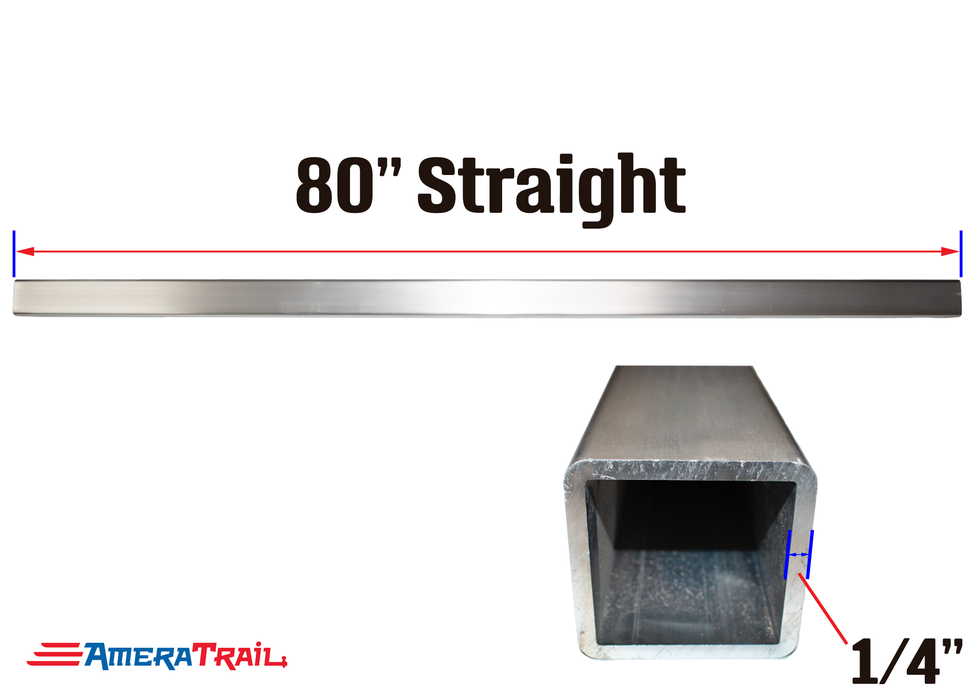 "80 X 3 X 3"" Straight Cross Member, 1/4"" Wall, Structural Aluminum"