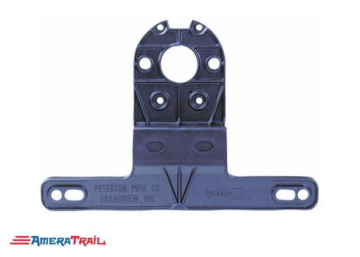 "License Plate Bracket , Black Plastic , 2"" Stud Mount Compatible"