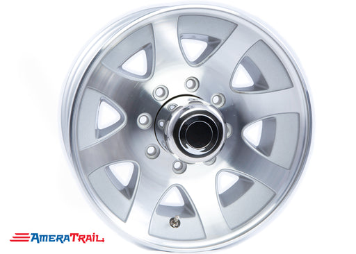 "17.5"" 8 Lug HiSpec Aluminum Heavy Duty Trailer Rim - 8 on 6.5"" Lug Pattern - 6.75"" Width"