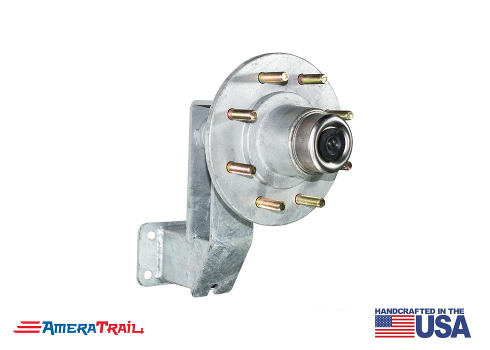 8 Lug Spare Idler Hub & Spindle Mount - Stainless Steel Hardware Included - Available w/ Stainless Steel Lug Nuts