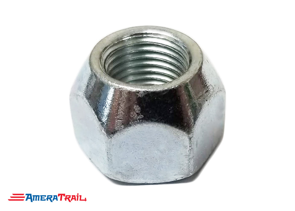 "9/16"" Cone Shaped Lug Nut, Zinc, 9/16""-18 Thread Size"