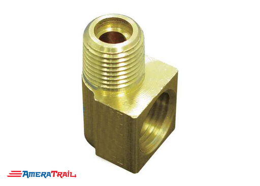 "90° 3/16"" Female / Male Brass Fitting - Compaitble w/ Most Trailer Brake Calipers"