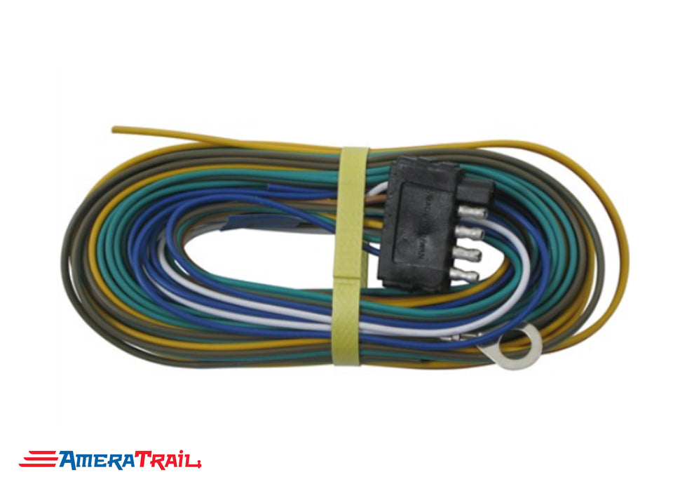 5 Way Trailer Harness w/ 35' Lead , DUAL GROUND -Optronics