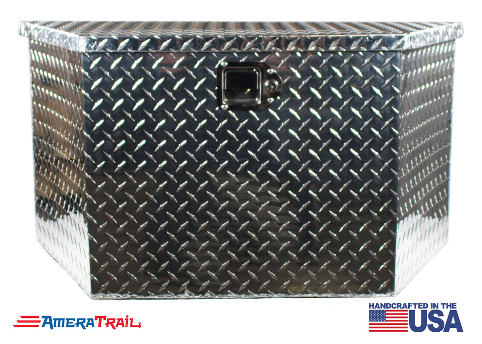 A Frame Diamond Plate Tool Box , Weather Tight w/ Locking Latch - RDS