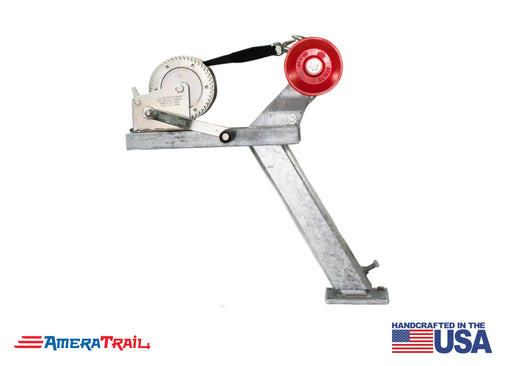 "Adjustable Bow Stop / Winch Stand Combo, 30° Lean Adjusts from 22"" to 34"" - Available w/ Fulton 1800lb Winch & Stoltz Roller"